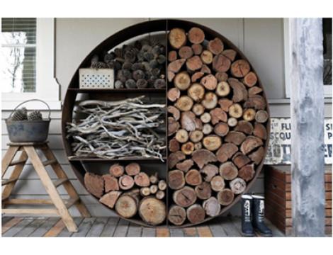 Заготовка дров с помощью конусного дровокола