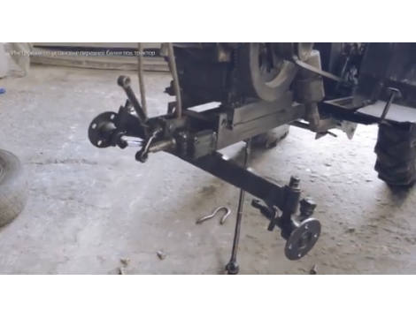 Переобладнання мототрактора новою балкою