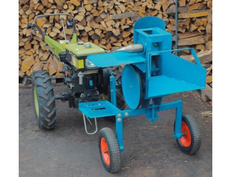 Збір подрібнювача гілок-дровокола з приводом від мотоблока