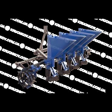 Чеснокосажалка 4-х рядная к минитрактору (увеличены ложки d=34 мм) (ЧС14)