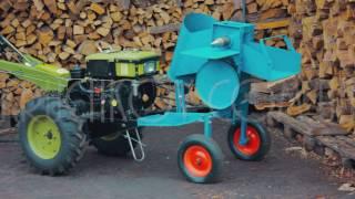 Сборка измельчителя веток-дровокола с приводом от мотоблока